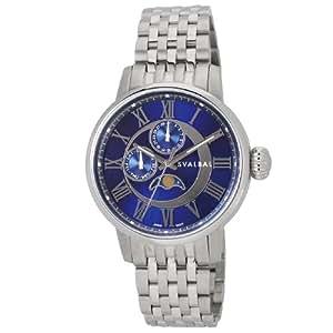 [スヴァルバル]SVALBAL 腕時計 5BAR N夜光 ムーンフェイズ SV03-MBL メンズ