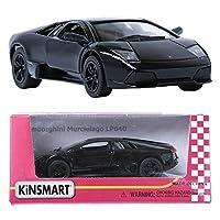 Kinsmart 1:36 Lamborghini Murcielago LP640 Black ミニ車のおもちゃを表示する [並行輸入品]