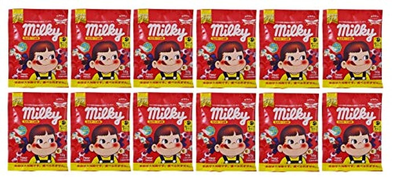 正統派氏膨らませるミルキー入浴剤 バニラミルクの香り(ペコちゃん)50g×12包セット