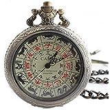 KOUME-YA 干支の懐中時計 レトロ調の手巻