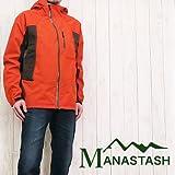 (マナスタッシュ)MANASTASH ストレッチコンパクトパーカー アウトドア マウンテン ウインドブレーカー ジャケット L 44オレンジ