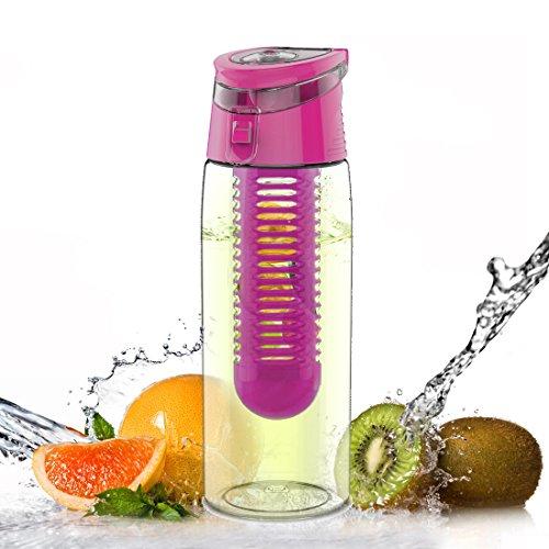 AVOIN colorlife デトックス ウォーターボトル ドリンクボトル フルーツ スポーツボトル 水筒 Tritan BPAフリー 700ml