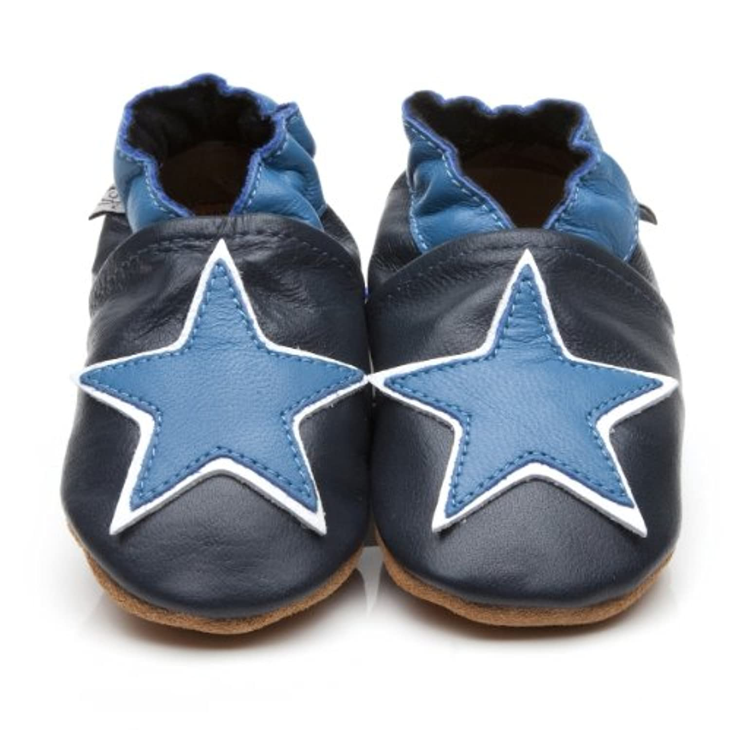 Soft Leather Baby Shoes Blue Star [ソフトレザーベビーシューズブルースター] 18-24 months (15 cm)