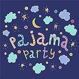 OFILA パジャマ パーティー用背景 5x5フィート パジャマパーティー 写真 背景 子供用 寝間着 パーティー 子供用 枕 イベント レジャー アクティビティ 休日 パーティー 写真 ビデオ 撮影 小道具