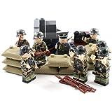 迷彩WW2ミニフィギュア陸軍兵士 - ミリタリービルディングブロック