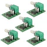 HiLetgo® 5個セットPAM8403 ミニ 5V デジタル アンプ基板 USB 電源 オーディオ アンプ [並行輸入品]