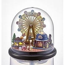 (moin moin) ドールハウス ミニチュア 手作りキット ドーム型 LEDライト 世界を旅する うさぎ シリーズ ( 大きな 観覧車 )