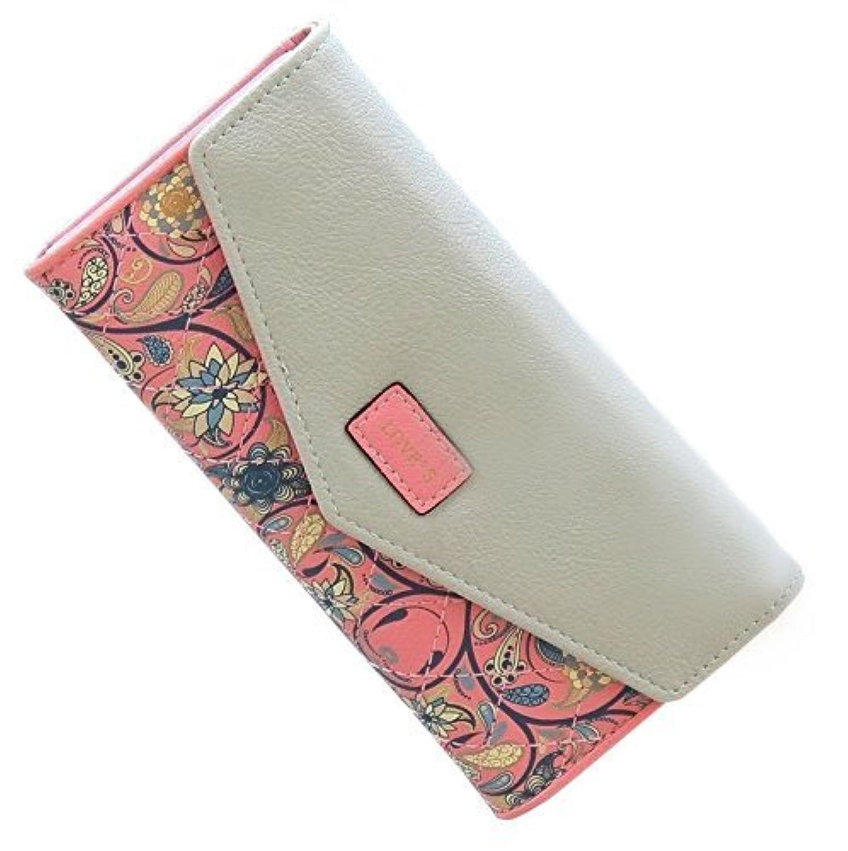 【YuHaru】 Sta.ANA(サンタ?アナ) 長財布 レディース おしゃれ 花柄 多機能 カード入れ 人気 全5色 (ピンク)