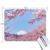 マウスパッド 桜 富士山 疲労低減 ゲーミングマウスパッド 9 X 25 厚い 耐久性が良い 滑り止めゴム底 滑りやすい表面