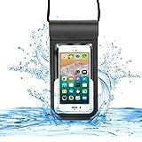 【CASEKOO】最新版 防水ケース スマホ用 IPX8認定 新しいデザイン 防水に強い 入れたままタッチ可能 iPhone X / iPhone8 plus/iPhone 7..