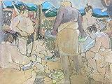 相撲画家 松岡リン「時津風部屋のチャンコ場風景」リン・スターム・レビィ画集
