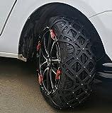 seiyishi 非金属タイヤチェーン 冬の必需品スノーチェーン アイスバーン サイズ調節可能 雪道 凍結 悪路 防止 雪チェーン 滑り止めチェーン 車両移動不要 ゴムバンド不要 ジャッキアップ不要の機構手軽に使用可能です SEIYISHI-S10