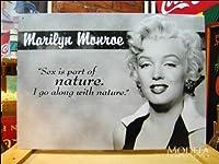 アメリカンブリキ看板 マリリン・モンロー 自然なこと