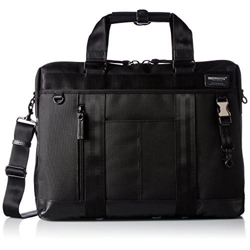 [バーマス] ビジネスバッグ 1層ブリーフ BAUERIII A4対応 60071-10 BK ブラック