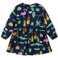 MODNTOGA Toddler Baby Girl Dress Dinosaur Printed Sleeveless Skirt Clothes Set