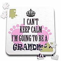 リナピロ祖父母–引用–I Cant Keep Calm Im Going To Be Aおばあちゃん。Baby Girl。面白いSaying。–10x 10インチパズル( P。_ 218175_ 2)