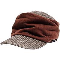 [ビッグワッチ] 帽子 大きいサイズ シャーリング ツイード ワークキャップ ブラウン DCP-09 メンズ L XL