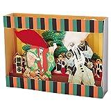 サンリオ クリスマスカード 和風 立体 歌舞伎連獅子  S6025