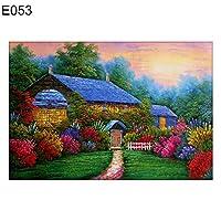 goupgolboll-DIYフルドリルダイヤモンド塗装風景クロスステッチ刺繍家の装飾ギフト - E053