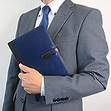 (シールアル) 手帳カバー A5サイズ 本革 革 ベルトつき バイカラー CLuaR-TC (02.ネイビー) 画像