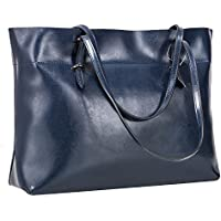 S-ZONE Women's Vintage Genuine Leather Tote Shoulder Bag Handbag