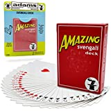 Adams Pranks and Magic - Amazing Svengali Deck (Red or Blue) - Classic Novelty Magic Trick Toy