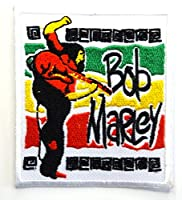 【ノーブランド品】アイロンワッペン  Bob Marly ロック バンド 音楽(バンド) ワッペン 刺繍ワッペン アイロンで貼れるワッペン