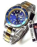 TECHNOS テクノス メンズ腕時計 ダイバーウォッチ 回転ベゼル ブルーダイヤル 工具ブレスセット TSM402TN-SET [並行輸入品]