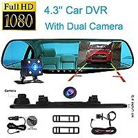 1080P HD 車 DVR リアカメラ デュアル付属 32GBカード、123Loop 1080P HD 車ダッシュカメラ デュアルカメラ 車 フロント リア DVR レンズ ビデオレコーダー