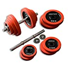 IROTEC(アイロテック) ラバー ダンベル 40KGセット (片手20kg×2個) 筋トレ ダイエット ダイエット器具 トレーニング ベンチプレス 筋肉