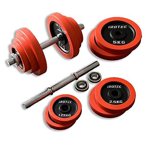 IROTEC(アイロテック) ラバー ダンベル 40KGセット (片手20kg×2個) 筋トレ ダイエット ダイエット器具 ...