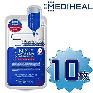 【正規輸入品】Mediheal メディヒール N.M.F アクアリング アンプル・マスクパックEX 10枚入り×1(Aquaring Ampoule Essential Mask PackEX 1box(10sheet)×1
