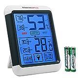 ThermoPro湿度計 温度計 デジタル室内 LCD大画面温湿度計 最高最低温湿度表示 タッチスクリーンとバックライト機能ありTP55