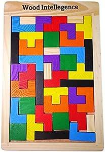 【ルルハウス】 選べるバリエーション ポリオミノ パズル ブロック Russian Block 知育玩具 木製 (ポリオミノ) by ルルハウス [並行輸入品]