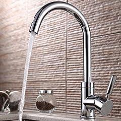 台所蛇口 冷熱混合水栓 キッチン用 キッチン蛇口 台所蛇口 水道 蛇口  シンクや洗面台 水栓金具 クロム