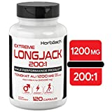 Longjack 200 1 Tongkat Ali | 1200mg 120 Capsules | Extreme Male Performance Supplement | Extract for Libido, Energy, Stamina | Non-GMO, Gluten Free Pills | by Horbaach