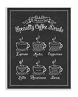 Stupell Home Décor Specialty Coffee Drinks ビンテージ風 タイポグラフィーサイン ウォールプレートアート 10 x 0.5 x 15 米国製