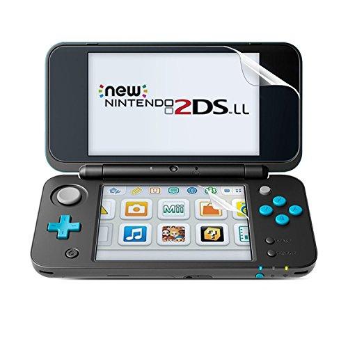 Nimaso Newニンテンドー2DS LL 用 フィルム 【ブルーライトカット】 New Nintendo 2DS LL 用 PET 保護フィルム 高光沢ウルトラクリア 高鮮明 極薄厚さ0.13mm【上画面2枚入り+下画面2枚入り】