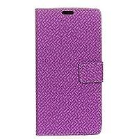 (の Nokia 7.1 Plus (Nokia X7)) フリップ 財布 シェル カバー 360度 フル ボディー 保護 緩衝器 カバー, プレミアム Accessories 材料-Purple
