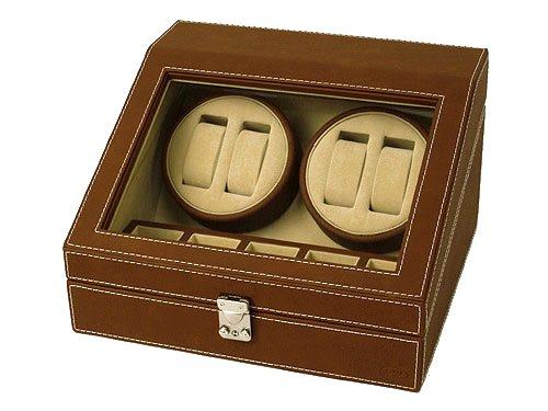 [해외]아울렛 제품 수가 있고 에스 뿌 ESPRIMA 와인 자동 호이스트 4 개 수납 케이스 시계 와인 더/Outlet goods translated Esprima ESPRIMA winding machine automatic hoisting machine 4 cases storage case watch winder