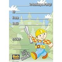 "Amscan Bob The Builder Birthday Party Invitations, 8-1/4 x 6"", Multi [並行輸入品]"