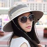 Xiaoyuna 夏の屋外釣りキャップバイザー日よけ帽子帽子乗馬ガール帽子通気性の一般的な男性と女性 (Color : White)