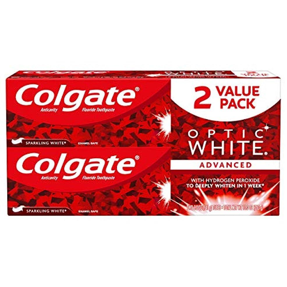 パトロールスクラッチ主張Colgate オプティックホワイト虫歯予防フッ素歯磨きスパークリングミント - 2 PK
