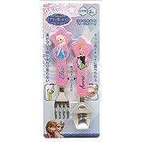 エジソン フォーク&スプーン ディズニー アナと雪の女王 ピンク (2歳から対象) ディズニーキャラクターと一緒にじょうずに食べられる