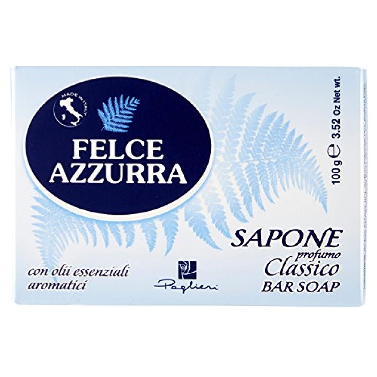 シマウマ再生可能うなり声Felce Azzurra Classico Bar Soap 100g soap by Felce Azzurra by Felce Azzurra