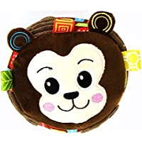 HuaQingPiJu-JP 赤ちゃんラブリーモンキーソフトハンドラトルベルキッズファニークロールベルボールおもちゃギフト