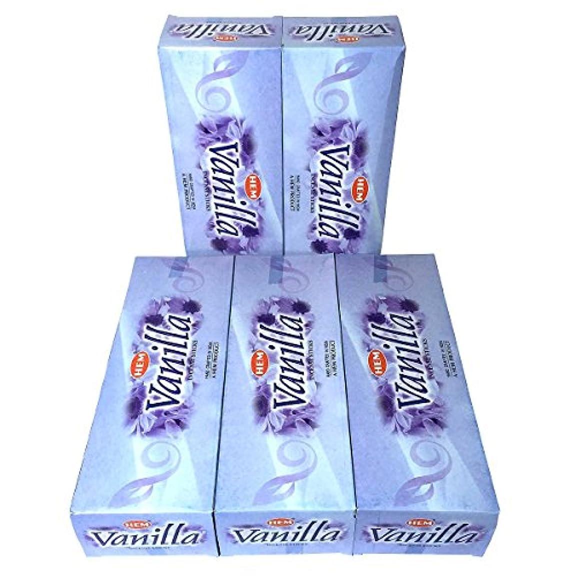 深い不測の事態興奮するHEM バニラ香 スティック 5BOX(30箱)/HEM VANILLA/ インド香 / 送料無料 [並行輸入品]