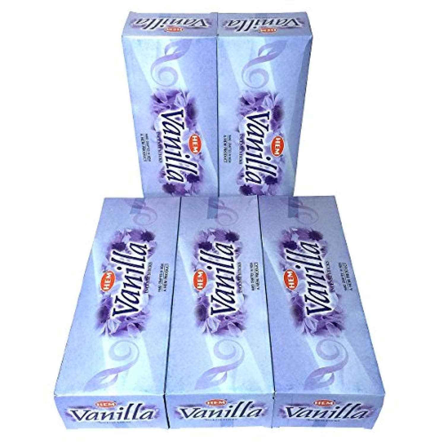 堂々たる胆嚢を通してHEM バニラ香 スティック 5BOX(30箱)/HEM VANILLA/ インド香 / 送料無料 [並行輸入品]