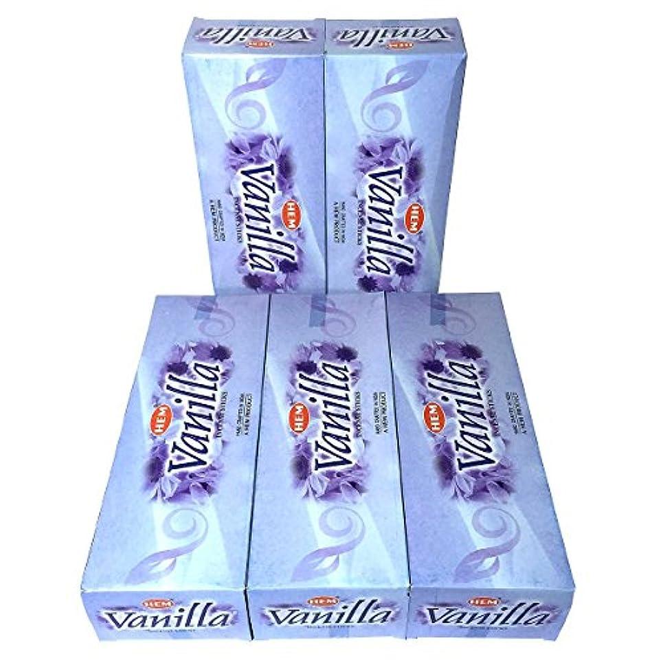 フォーマル賭け摘むHEM バニラ香 スティック 5BOX(30箱)/HEM VANILLA/ インド香 / 送料無料 [並行輸入品]