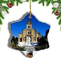 Weekinoラ・ロマーナ・ドミニカクリスマスオーナメントクリスマスツリーペンダントデコレーション旅行お土産コレクション陶器両面デザイン3インチ